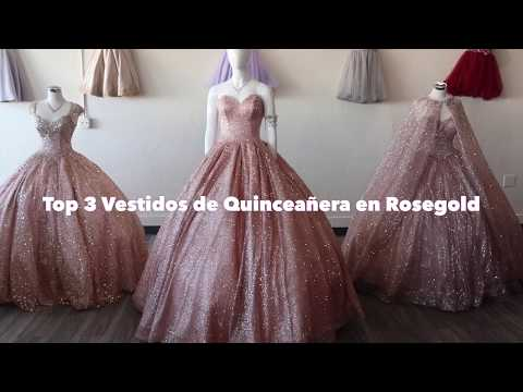 Vestidos De Quinceañera En Color Rose Gold Top 3 Lucy
