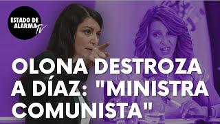 "Macarena Olona destroza a la ministra de Trabajo, Yolanda Díaz: ""Se lo agradezco ministra comunista"""