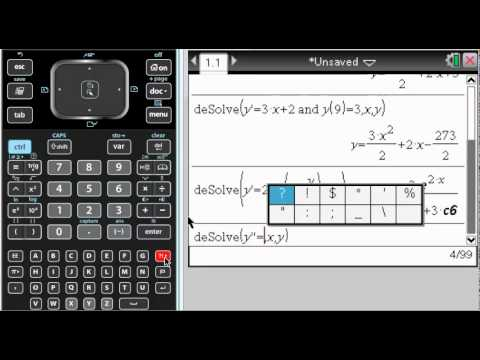 Differential Equation Solver On Ti