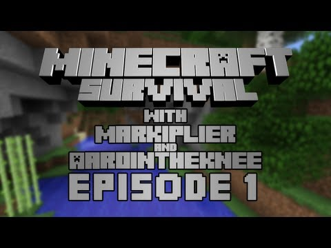 Minecraft - W/ Markiplier & Aarointheknee Part 1