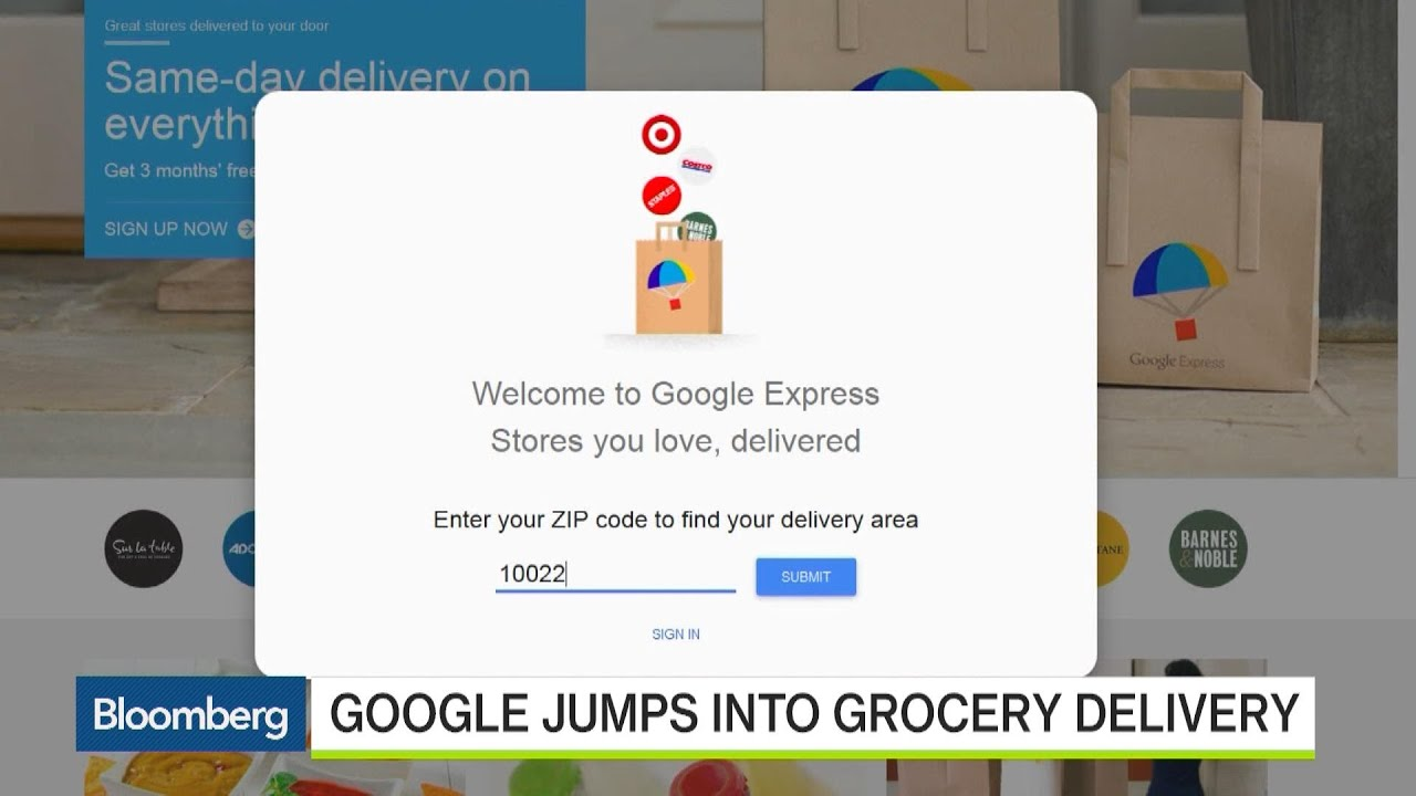 Google's Jumping Into the Grocery Delivery Business