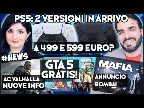 ps5:-2-versioni-al-lancio-a-499-e-599-euro?-+-ac-valhalla-news-+-gta-5-gratis!-#news