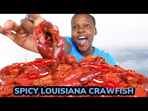SPICY LOUISIANA CRAWFISH BOIL MUKBANG | HOW TO EAT CRAWFISH
