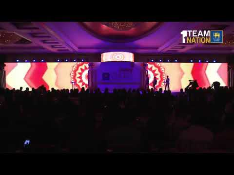 SL cricket players singing song in dialog awards