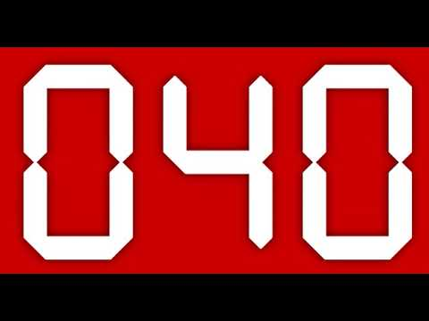 100 second digital countdown timer red background youtube - How to make a countdown your wallpaper ...