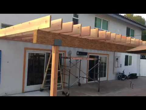 Attrayant Patio Overhang Installation In Woodland Hills By Crown Construction / FREE  ESTIMATES / 818 974 3210