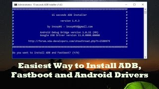 Easiest Way to Install ADB, Fastboot and Android Phone Drivers on Windows