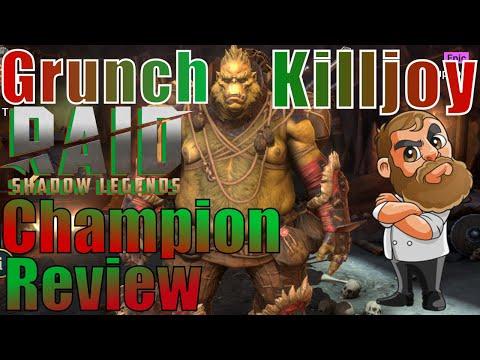 Raid Shadow Legends Grunch Killjoy Champion Review🧔👍🎄🧨