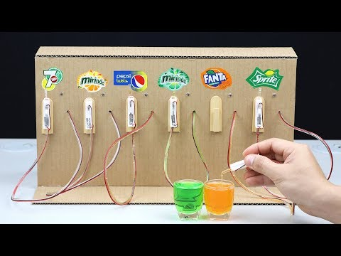 How to Make Fountain Machine with 6 Different Drinks