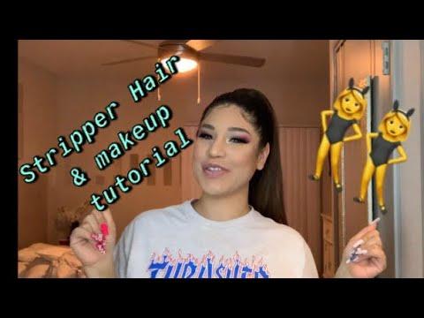 STRIPPER HAIR & MAKEUP TUTORIAL PT.2 thumbnail