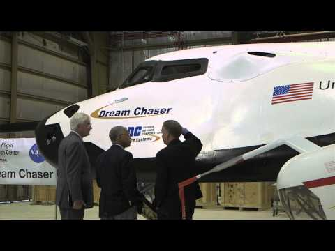 NASA Administrator Flies Dream Chaser Simulator