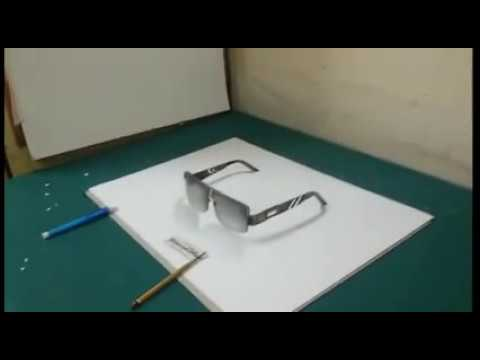 How To Draw Amazing 3D Eyeglasses   YouTube   how to draw amazing 3d eyeglasses