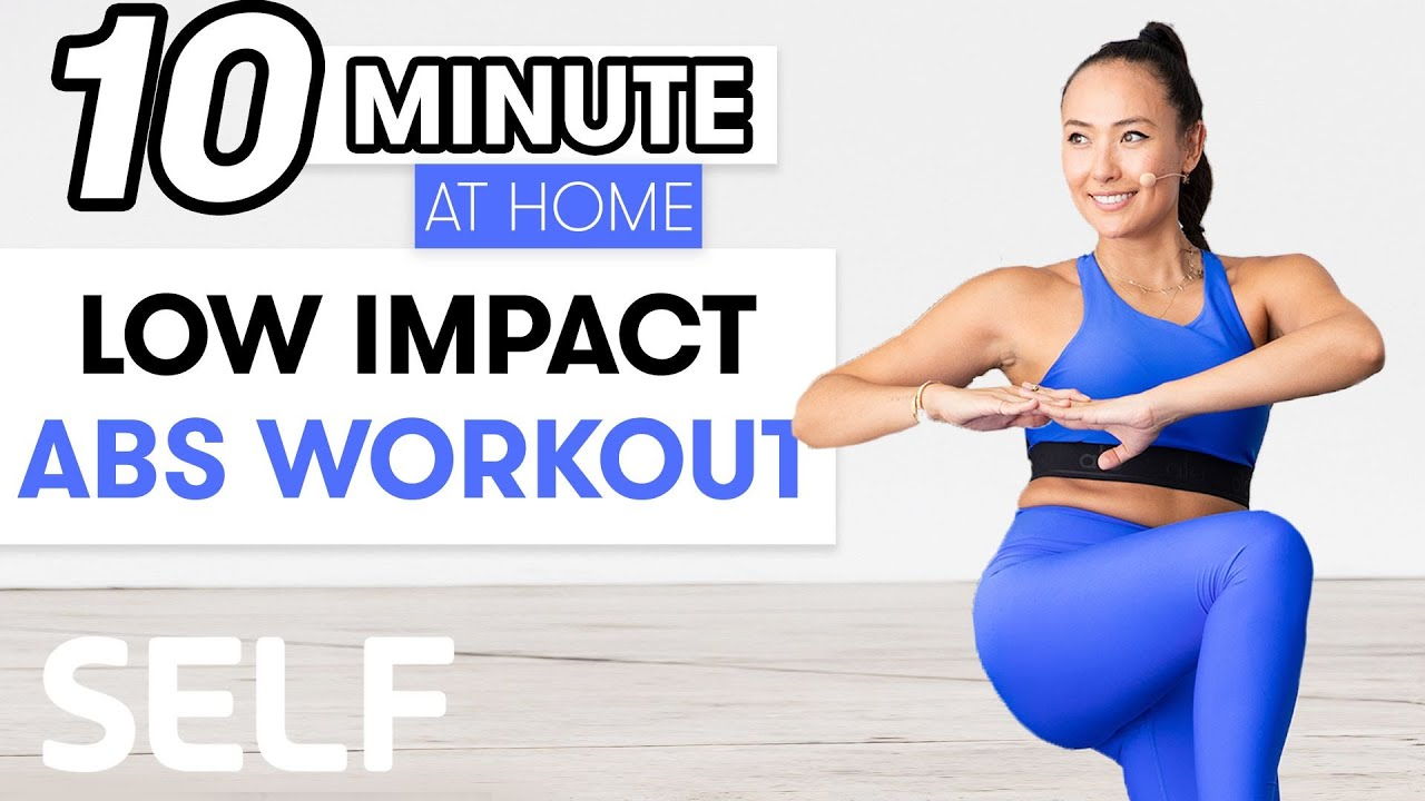 10-Minute Low-Impact Abs Workout   Sweat with SELF