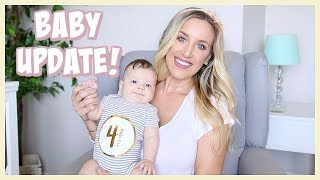 FOUR MONTH BABY UPDATE! SLEEP, LAUGHING, TEETHING | OLIVIA ZAPO