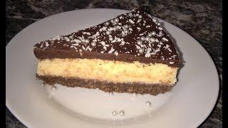 Торт Баунти без выпечки рецепт. Баунти торт. Очень вкусный шоколадно-кокосовый торт из печенья!