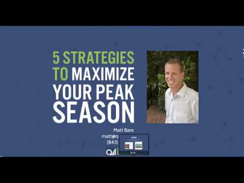 5 Strategies to Maximize Your Peak Season This Year