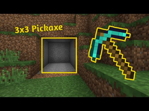How To Make 3x3 Mining Pickaxe