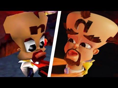 Crash Bandicoot N. Sane Trilogy - All Endings Comparison (PS4 vs Original)