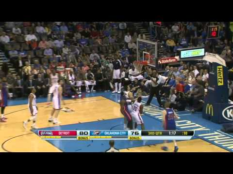 Detroit Pistons vs Oklahoma City Thunder | April 16, 2014 | NBA 2013-14 Season