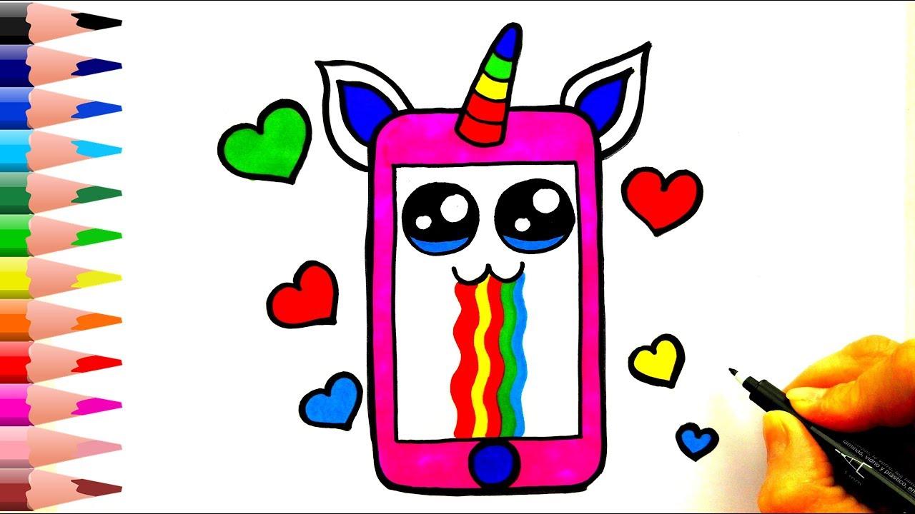 Sevimli Telefon Çizimi - Kolay Çizimler -Telefon Nasıl Çizilir?