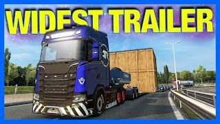 WIDEST TRAILER GOES WRONG!! (Euro Truck Simulator 2)