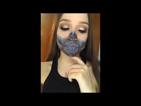 Glam Neon Skull - Halloween Series | Valeria's Makeup