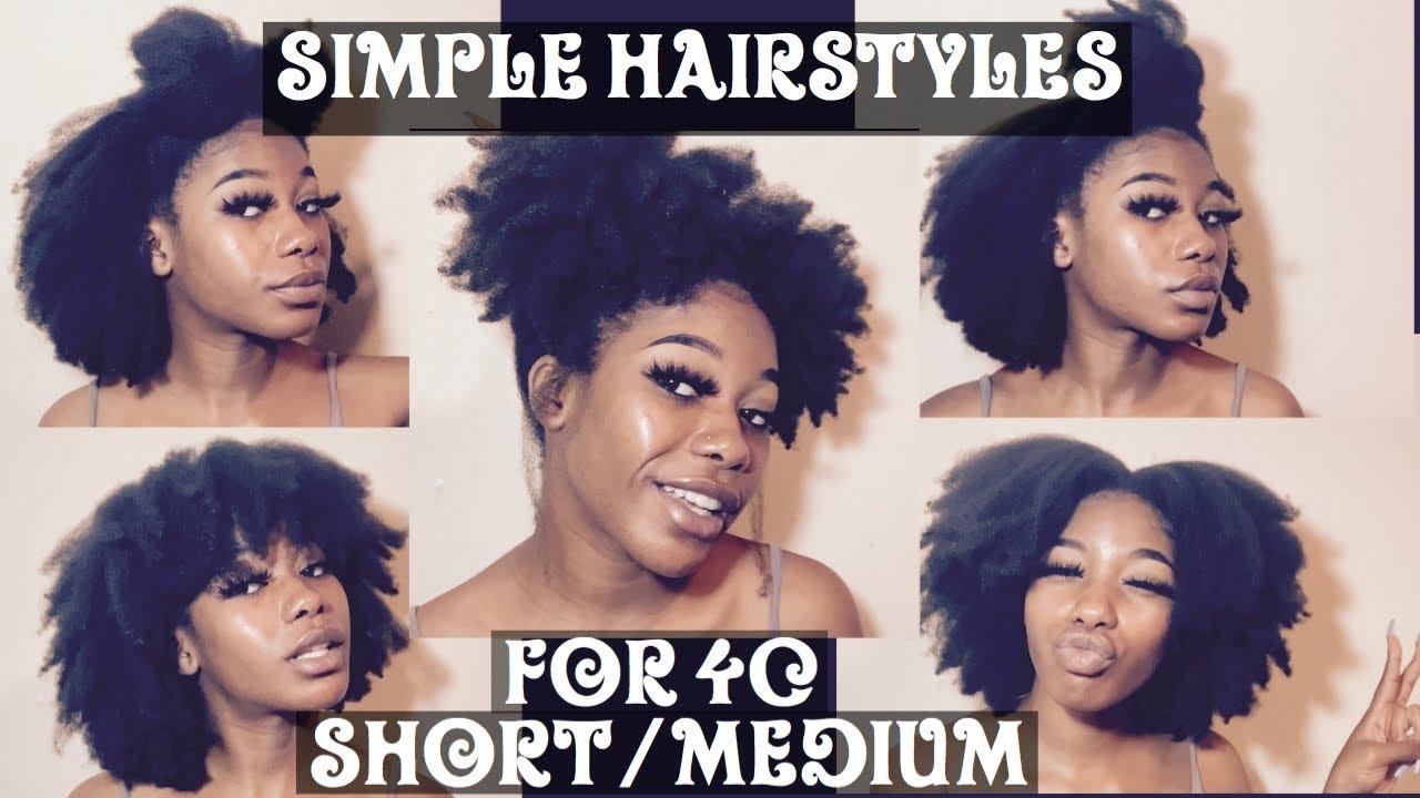 Hairstyles For Short Medium 4c Natural Hair