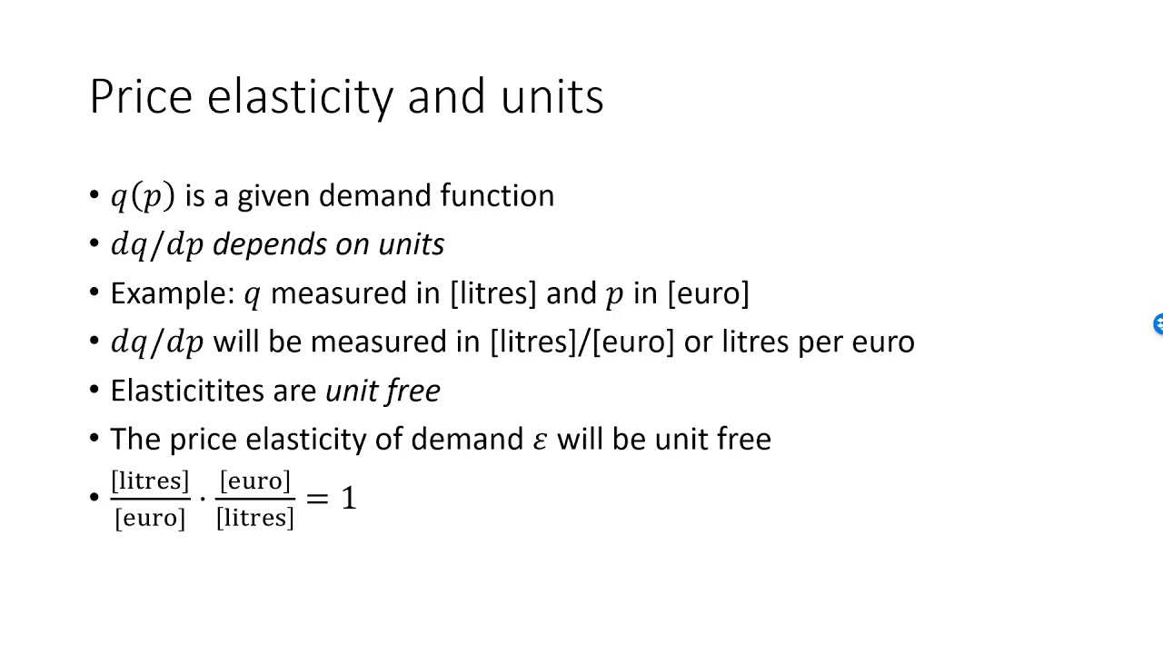 Price Elasticity Of Demand Logs Units And Elastic Vs Inelastic