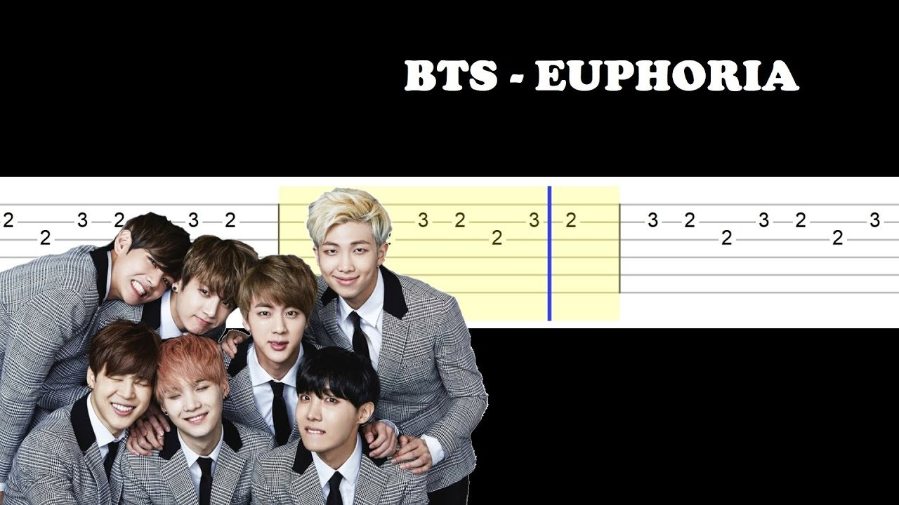 Bts - Euphoria (Easy Guitar Tabs Tutorial)