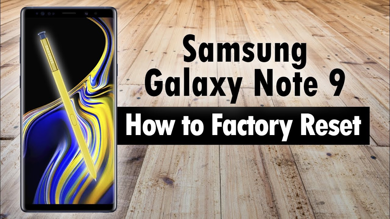 Samsung Galaxy Note 22 How to Reset Back to Factory Settings