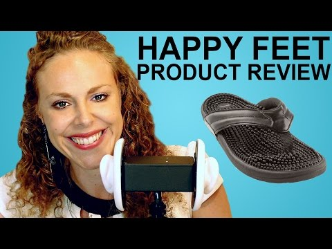 Massage Sandals Review, Reflexology Shoes by Kenkoh, ASMR So