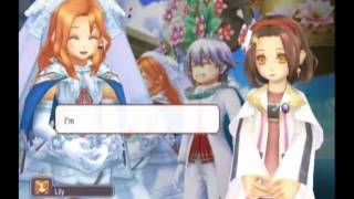 Rune Factory: Tides of Destiny - Lily's Fall Date, Proposal and Wedding