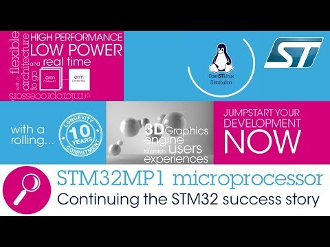 STMicro STM32MP1 Cortex A7/M4 MPU Supports Linux and Android