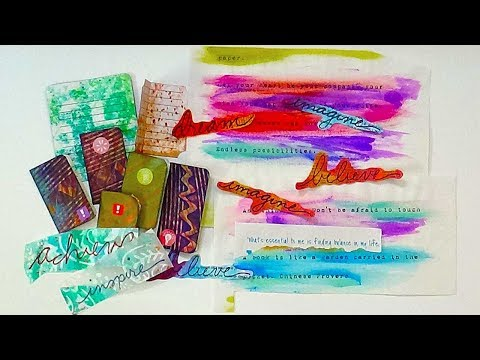 Ephemera - Journal Booklets, Words and Quotes - Part 3 of 5 with Barb Owen - HowToGetCreative.com