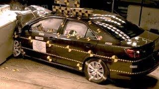 2012 Toyota Camry | Frontal Oblique Offset (35% Overlap, Driver) Crash Test | CrashNet1