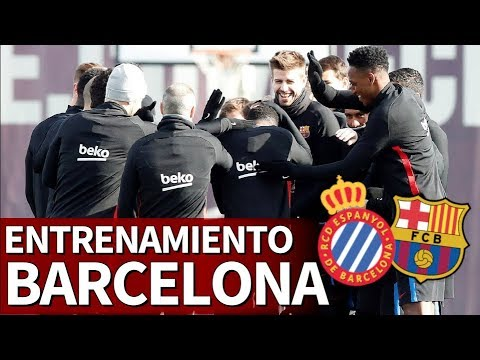 Espanyol - Barcelona - Entrenamiento previo del Barça - Diario AS - 동영상