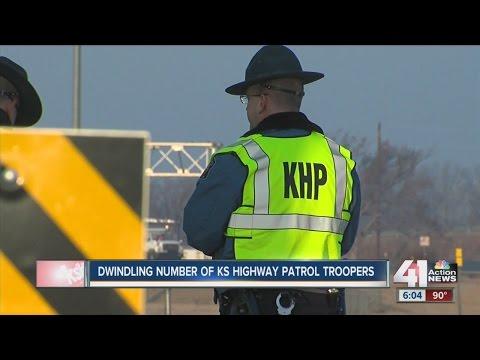 Dwindling number of Kansas Highway Patrol troopers