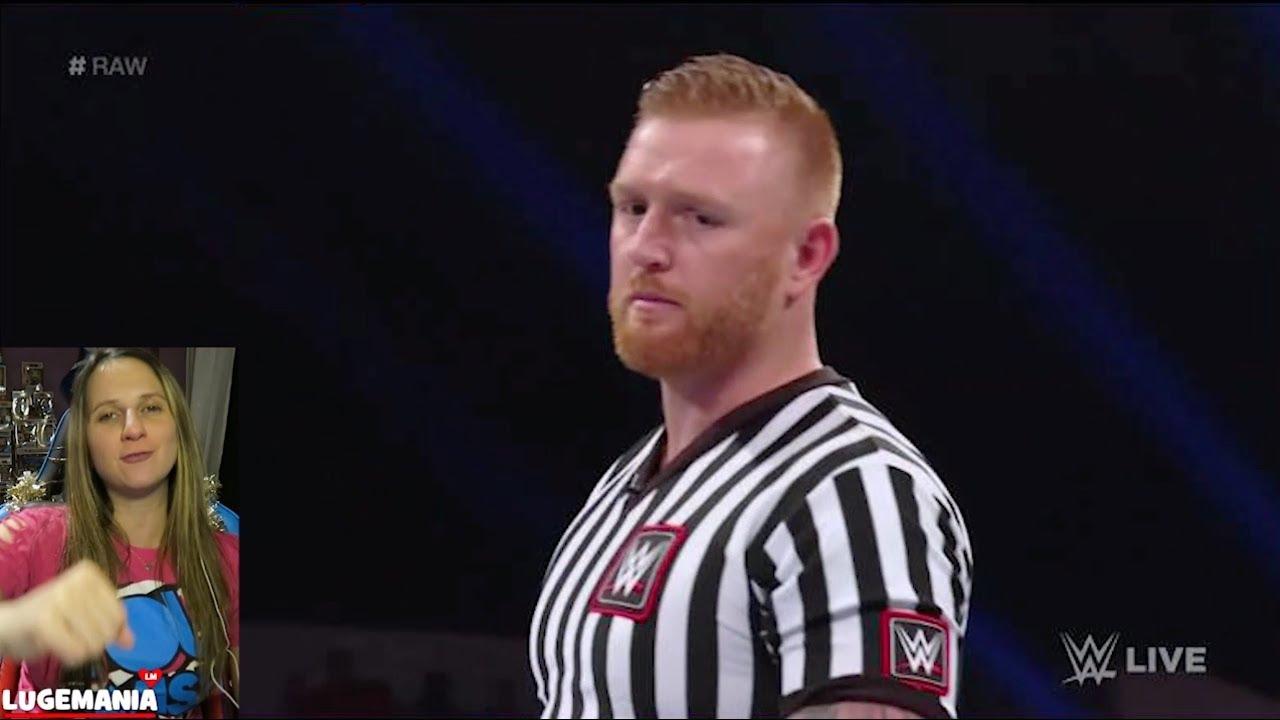 WWE Raw 12/10/18 Elias vs Lio Rush Referee Heath Slater