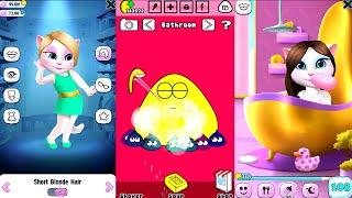 My Talking Angela Vs Pou Gameplay - Great Makeover for Children Full HD