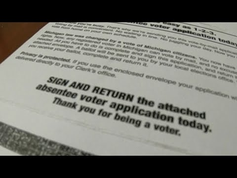 Absentee Ballot Application Issue
