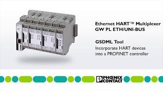 Incorporate HART devices into a PROFINET controller with GSDML tool