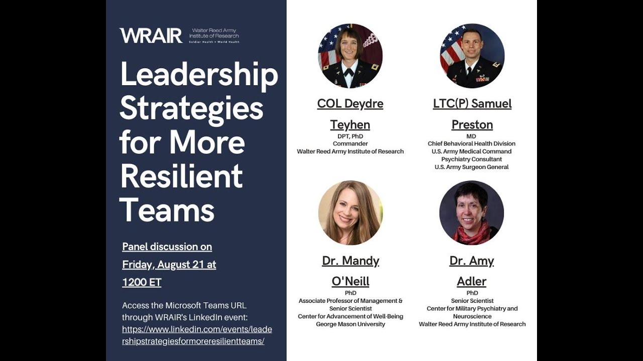 Leadership Strategies for More Resilient Teams