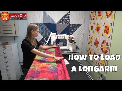 how-to-load-a-quilt-on-a-longarm-quilting-frame-with-leah-day