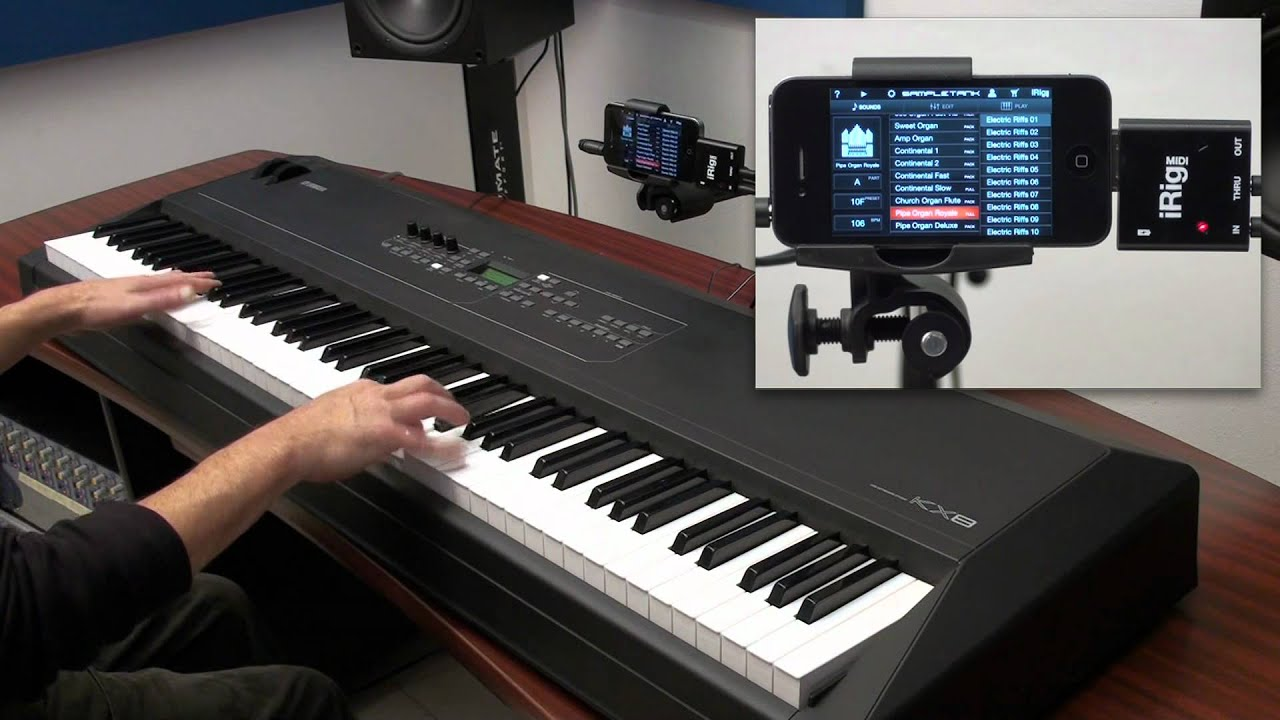 pipe organ and hammond b3 style drawbar organ with sampletank for iphone ipod touch and irig. Black Bedroom Furniture Sets. Home Design Ideas