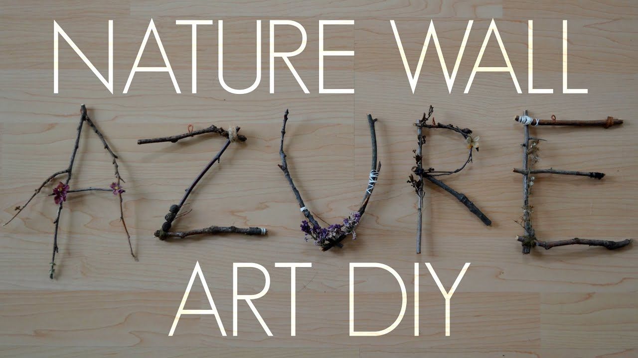 nature wall art diy youtube. Black Bedroom Furniture Sets. Home Design Ideas