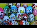 Surprise eggs Angry Birds Moshi Monsters Disney toys Plains