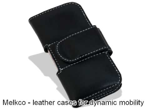 Melkco Tasche Leder Etui cuir ~Samsung SGH-T919 Behold Pouch Type (Black)