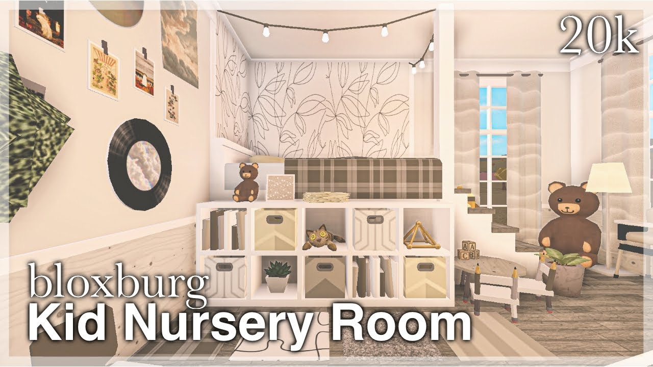 Bloxburg Kid Nursery Room Speedbuild Youtube