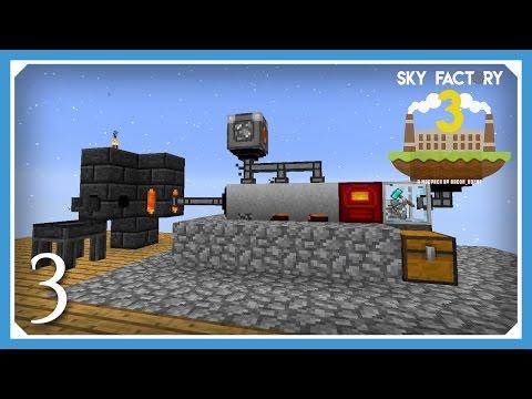 FTB Sky Factory 3 | Auto Hammer & Magmatic Generator | E03 (Modded