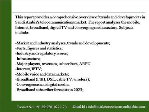 Market Reports on Saudi Arabia   Telecoms, Mobile, Broadband and